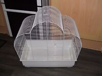 Cage for Budgie Finch Cockatiel Canaries Parakeet Cage with seed cups perches and swings