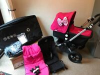 Bugaboo 3 Hot pink with extra!
