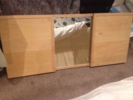 IKEA 3 sided bedroom wall mirror