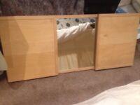 IKEA 3 sided bedroom wall mirror