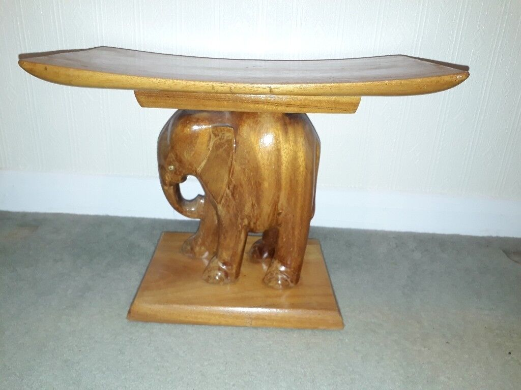 Stupendous Wooden Elephant Stool African Art In Camberley Surrey Gumtree Onthecornerstone Fun Painted Chair Ideas Images Onthecornerstoneorg