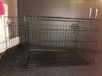 Medium size dog cage with removable tray