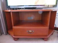 Tv wooden unit with drawer