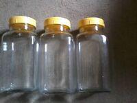 Small vintage glass sweet jars