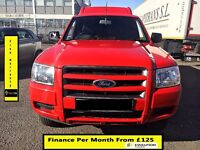 Ford Ranger 2.5 Cab Pickup 4x4- 140BHP -52K Miles Only- 1 Owner - 1Yr Mot- FSH 7 Stamps - Warranty