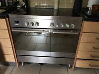 Baumatic electric range cooker twin oven ceramichob