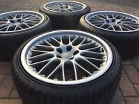 Genuine 19 Audi Speedlines A5 A5 A6 VW Scirocco Golf GTi R32 Alloy wheels & 235/35/19 tyres - 6-7mm