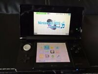 Nintendo 3DS (Latest Model)- Cosmo Black Handheld Syste(dose not read games)