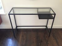 Metal - Glass Desk and Metal Laptop Stand