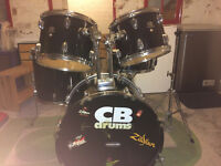 CB Drum Kit with Cymbals (Stands Missing)