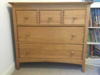 Nursery Furniture- Mamas & Papas Walnut Cot Bed, Chest of Drawers & Ottoman Excellent Condition