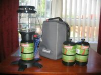 Coleman Northstar Lantern with Carry Case plus 2 Propane Gas Cartridgeds