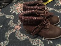 Ankle boots worn couple times