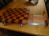 Solid wood kitchen block/knife storage tray