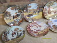 Thelwells ponies, 8 collectable plates