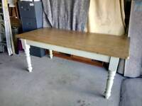 Pine Shabby Chic Painted Table