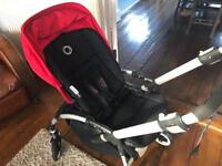 Bugaboo Bee + Plus, with Maxi-Cosi Car Seat, Lascal Maxi Buggy Board and extras