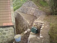 DYKES, STONE WORKS, STONE MASONS, REPAIRS, POINTING, EXCAVATIONS, DRY STONE DYKE