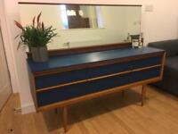 Vintage retro sideboard dressing table with mirror