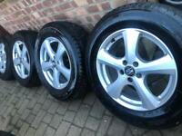 """As New 17"""" Volvo XC90 XC60 alloy wheels +winter tyres Evoque Ford Kuga 5x108 CAN POST"""