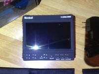 Marshall Electronics 5inch On-Camera Field Monitor V-LCD50-HDMI EXCELLENT CONDITION!!
