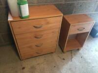 Chest drawers and bedside table only together Lurgan