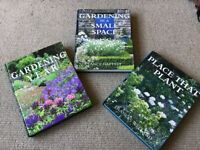 3 Large Hardback Gardening Books in Excellent condition