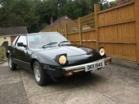 Fiat X/19 X19 Bertone two seat sports car in black with I12 months MOT, removable targa top