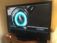 "Panasonic 50"" plasma television with free view HD box plus HDMI lead"