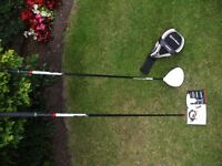 TAYLORMADE R11 DRIVER 10.5 degree with two shafts, a Fujikura Regular and also a Medium shaft