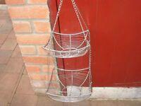 Chrome hanging/display baskets