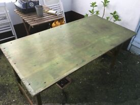 Solid wood table about 61 x 30 x 30