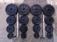 Dumbbells metal 40kg set