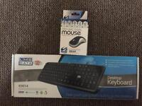 Desktop computer laptop keyboard and optical mouse USB wired