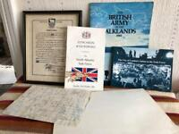 Falkland original and Northern Ireland medals