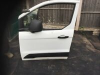 FORD TRANSIT CONNECT MK2 2013-2018 NSF PASSENGER FRONT BARE DOOR SHELL WHITE