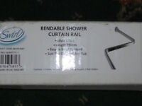 Swirl bendable shower curtain rail, chrome / aluminium finish, new in box with fittings. 5 avaliable