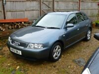 2001 51-Reg Audi A3 1.8 Sport 5 door. Lovely Black Leather Sports Seats. Spares / Repair.
