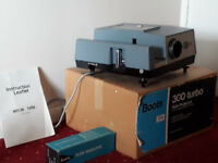 35mm slide projector, projector stand and projector screen