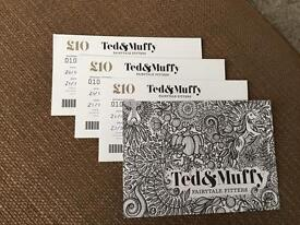 Gift vouchers , Ted&Muffy