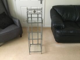 Wrought iron/glass display unit