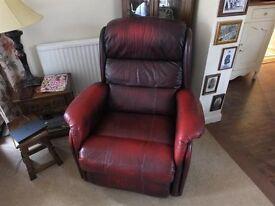 Leather Dark Brown/Dark Red Lazyboy Recliner Chair in good condition