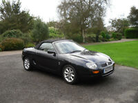 MG MGF 2001 Black Cream Leather interior -' have some fun in the sun'.