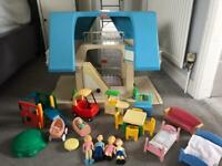 Little tikes vintage dolls house and furniture