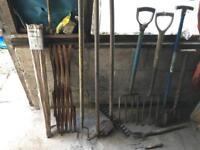 Garden tools etc