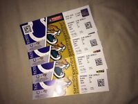 2nd October Jacksonville Jaguars vs Indianapolis Colts 4 tickets - BRILLIANT SEATS SEE IMAGES