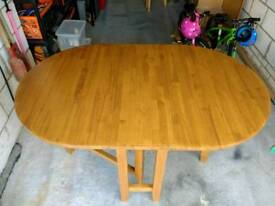 Wooden folding gateleg dining table