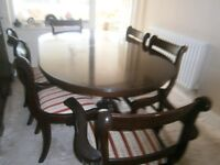 dining room table chairs with 2 carver 4 chairs
