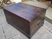 King William iv Period Solid Oak Silver Chest