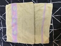2 x Hair Towel (Yellow with Pattern & White Plain)